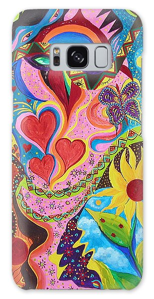 Hearts And Flowers Galaxy Case