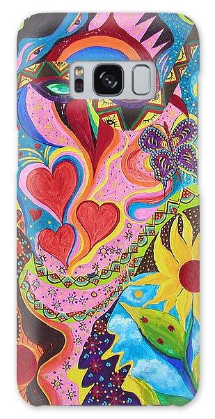 Hearts And Flowers Galaxy Case by Marina Petro