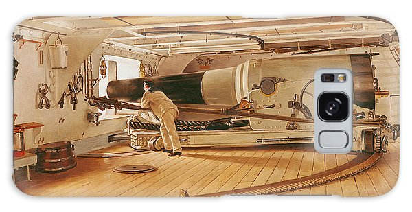 Cannon Galaxy Case - Twenty-seven Pound Cannon On A Battleship by Gustave Bourgain