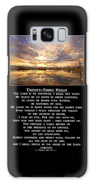 Twenty-third Psalm Prayer Galaxy Case
