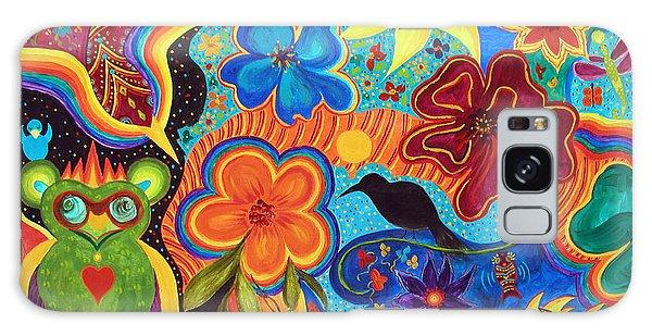 Bluebird Of Happiness Galaxy Case by Marina Petro