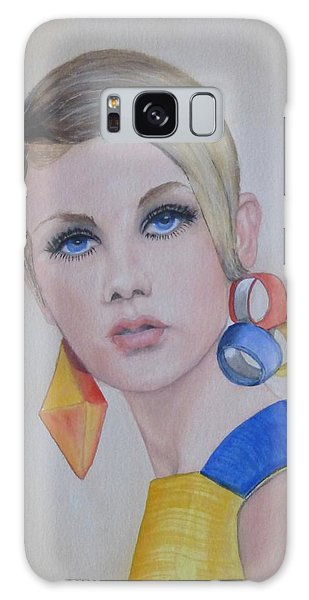 Twiggy The 60's Fashion Icon Galaxy Case