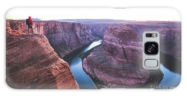 Twilight At Horseshoe Bend Galaxy Case by JR Photography
