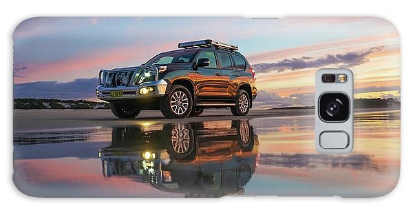 Twilight Beach Reflections And 4wd Car Galaxy Case