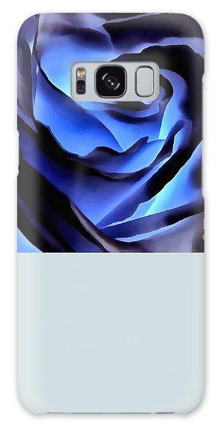 Twilight Blue Rose  Galaxy Case