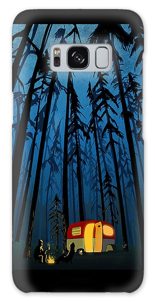 Woods Galaxy Case - Twilight Camping by Sassan Filsoof