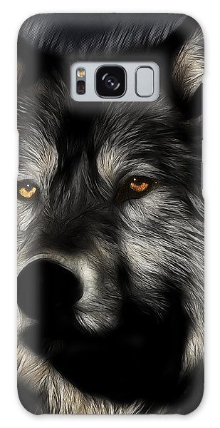 Breaking Dawn Galaxy Case - Twilight Eyes Of The Lone Wolf by Wingsdomain Art and Photography