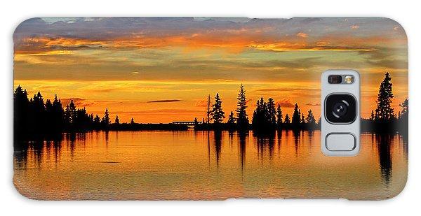 Twilight Lake Reflections In Colorado Galaxy Case