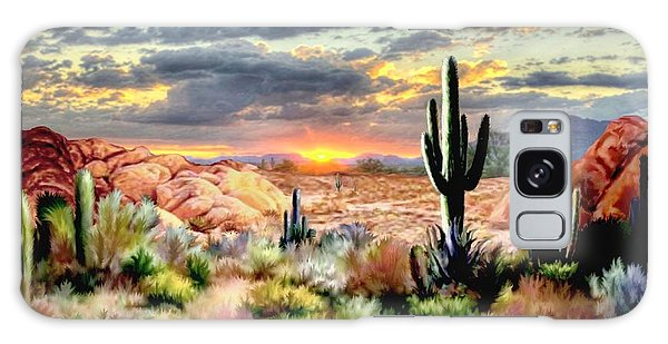 Twilight On The Desert Galaxy Case by Ron Chambers
