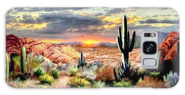 Twilight On The Desert Galaxy Case