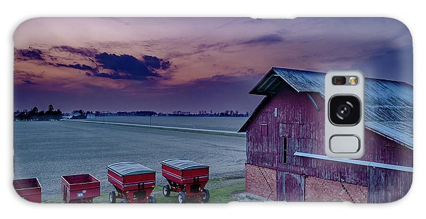 Twilight On The Farm Galaxy Case