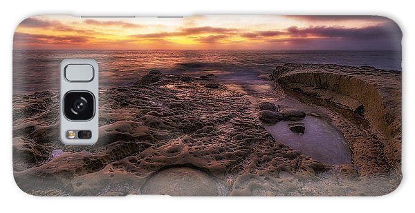 Twilight On The Pacific - California Coast Galaxy Case