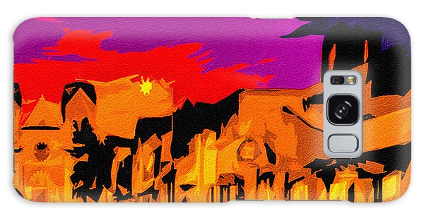 Twilight On The Plaza Santa Fe Galaxy Case