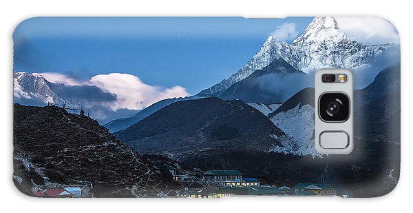 Twilight Over Pangboche In Nepal Galaxy Case