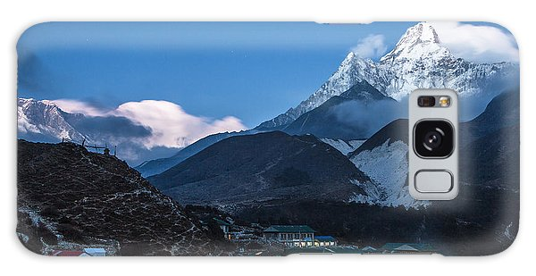 Twilight Over Pangboche In Nepal Galaxy Case