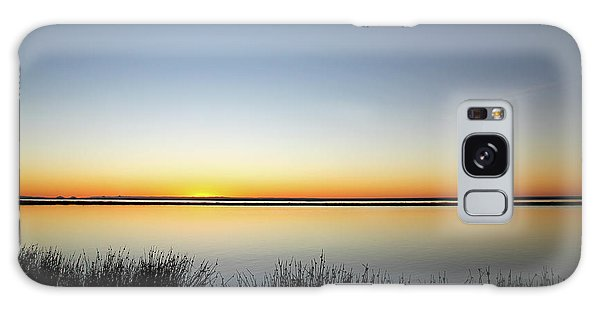Twilight Stillness Down By The Beach Lagoon Galaxy Case
