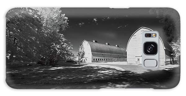 Galaxy Case featuring the photograph Twin Barns by Bob Cournoyer