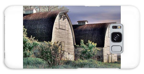 Twin Barns, Nisqually, Wa Galaxy Case by Greg Sigrist