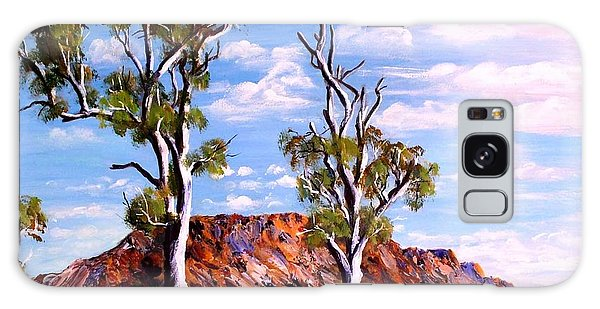 Twin Ghost Gums Of Central Australia Galaxy Case