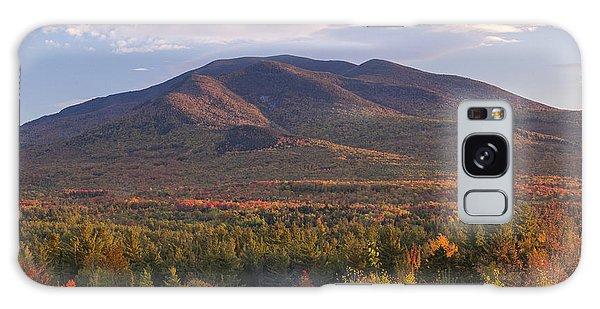 Twin Mountain Autumn Sunset Galaxy Case