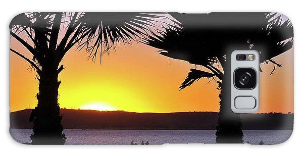 Twin Palms At Sunset Galaxy Case
