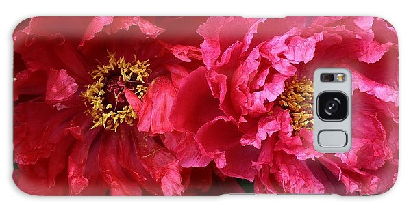 Twin Peonies Galaxy Case by Bruce Bley