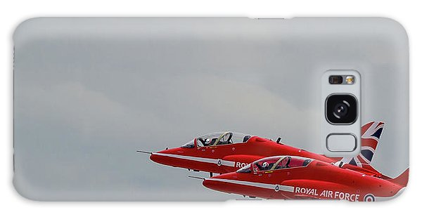 Galaxy Case featuring the photograph Twin Red Arrows Taking Off - Teesside Airshow 2016 by Scott Lyons