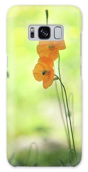Buy Art Online Galaxy Case - Twins. Orange Poppies by Jenny Rainbow