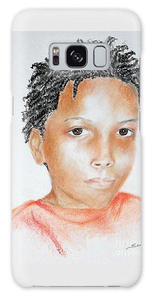 Twists, At 9 -- Portrait Of African-american Boy Galaxy Case