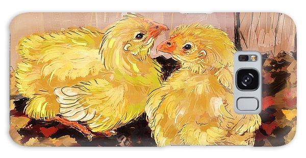 Two Baby Cornish Chicks Galaxy Case