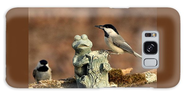 Two Black-capped Chickadees And Frog Galaxy Case