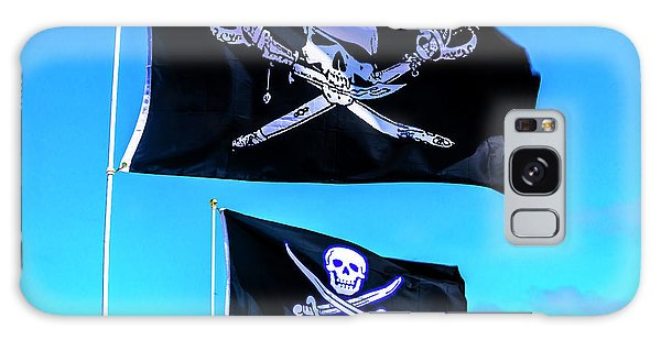 Sly Galaxy Case - Two Black Pirate Flags by Garry Gay