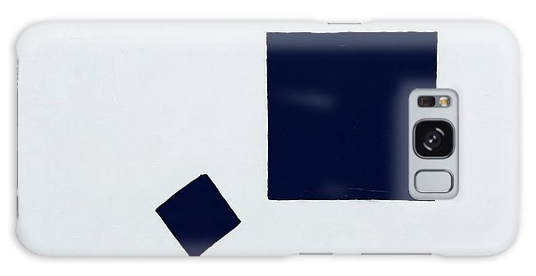Two Black Squares Galaxy Case