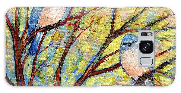 Shrub Galaxy Case - Two Bluebirds by Jennifer Lommers
