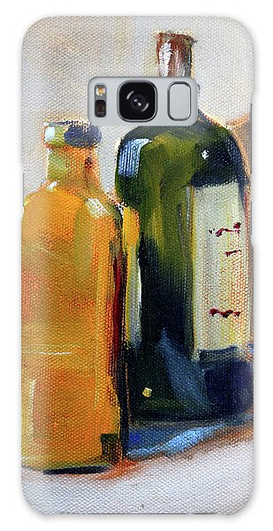 Galaxy Case featuring the painting Two Bottles by Nancy Merkle