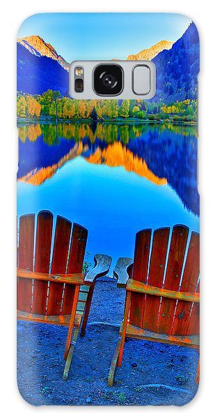 Two Chairs In Paradise Galaxy Case by Scott Mahon