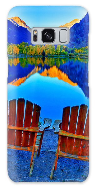 Adirondack Chair Galaxy Case - Two Chairs In Paradise by Scott Mahon