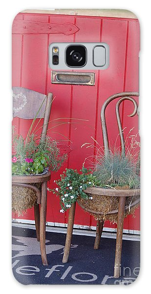 Two Chairs With Plants Galaxy Case