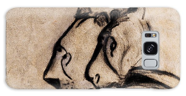 Two Chauvet Cave Lions - Clear Version Galaxy Case
