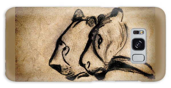 Two Chauvet Cave Lions Galaxy Case