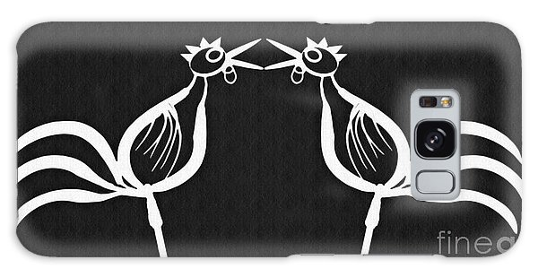 Two Crowing Roosters 2 Galaxy Case