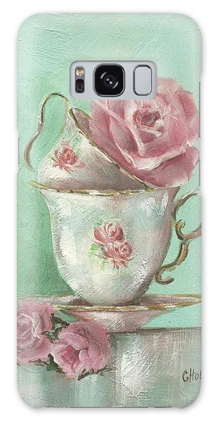 Two Cup Rose Painting Galaxy Case