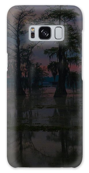 Two Cypress At Dawn Galaxy Case