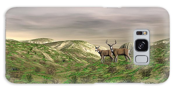Two Deer Galaxy Case by Walter Colvin
