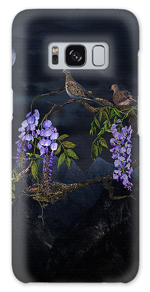 Mourning Doves In Moonlight Galaxy Case