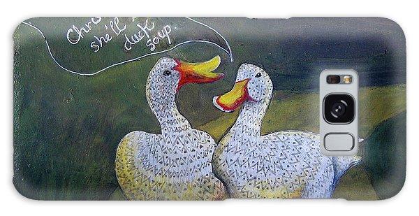 Two Ducks-a-walking Galaxy Case by Anne Havard