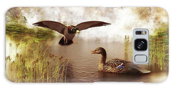 Two Ducks In A Pond Galaxy Case