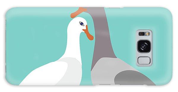 Two Ducks In Love Galaxy Case
