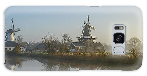 Two Dutch Windmills In The Fog Galaxy Case
