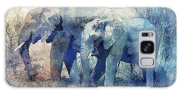 Two Elephants Galaxy Case by Jutta Maria Pusl